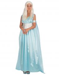 Déguisement princesse des dragons bleu femme