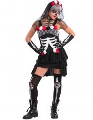 Déguisement squelette sexy femme dia de los muertos