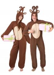 Déguisement de couple renne de Noël adulte