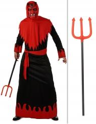 Pack déguisement diable avec fourche Halloween