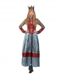 Déguisement reine médiévale premium femme