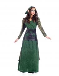 Déguisement elfe médiéval femme