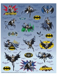 4 Feuilles de stickers Batman ™