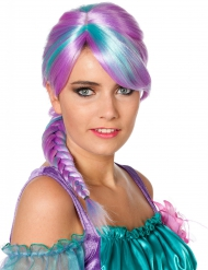 Perruque tressée bicolore femme