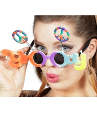Lunettes multicolores groovy adulte