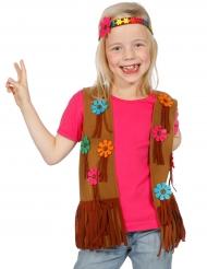 Gilet et bandeau hippie flower enfant