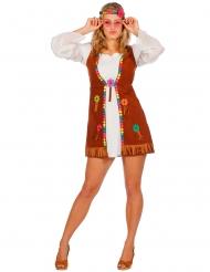 Déguisement miss hippie blanche femme