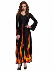 Déguisement flammes de l'enfer femme Halloween