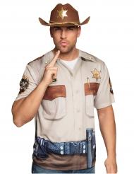 T-shirt shérif adulte
