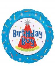Ballon aluminium Birthday boy bleu