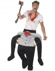 Déguisement homme à dos d'homme sans tête adulte Halloween