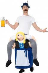 Déguisement homme à dos de bavaroise bleue adulte Fête de la bière