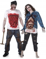 Déguisement de couple zombie gore Hallloween