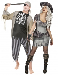 Déguisement de couple pirate zombie Halloween