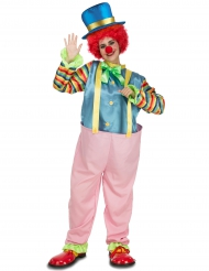 Déguisement clown rose adulte