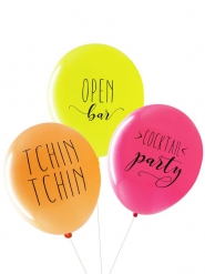 3 Ballons latex biodégradable Open bar 27 cm