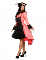 Manteau fluo corail luxe adulte