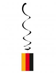 Lot de 6 suspensions métallisées drapeau Allemagne