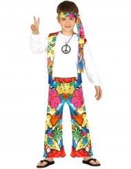 Déguisement hippie à grosses fleurs enfant