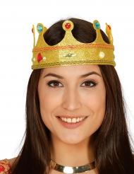 Couronne reine pailletée avec faux joyaux adulte