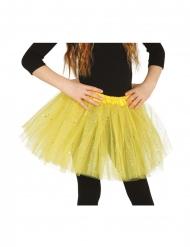 Tutu jaune à paillettes fille
