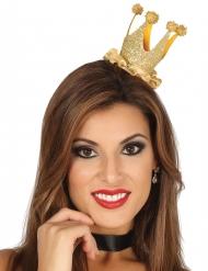 Mini couronne reine à paillettes femme