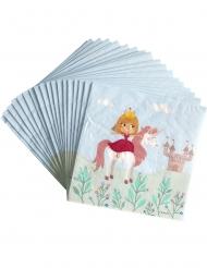 20 Serviettes en papier Princesse 33 x 33 cm