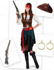 Pack déguisement pirate femme