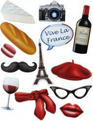 Accessoires pour Photobooth thème Français (13 pièces)