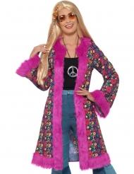 Manteau hippie peace flower femme