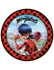 8 Assiettes en carton Ladybug™ à Paris 23 cm