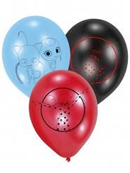 6 Ballons en latex Ladybug™ 22,8 cm