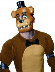 Demi masque en plastique Freddy™ jeu vidéo Five nights at Freddy