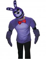 Demi masque en plastique Bonnie™ jeu vidéo Five nights at Freddy