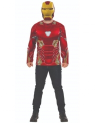 T-shirt et masque Iron man Infinity War™ adulte
