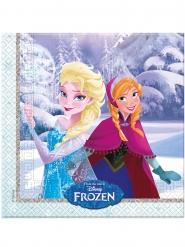 20 Serviettes en papier La Reine des Neiges câlins d