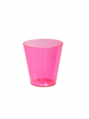 60 Verres à shot en plastique rose neon 59 ml
