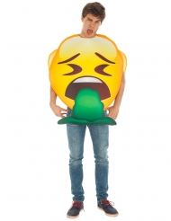 Déguisement Emoji vomito™ adulte