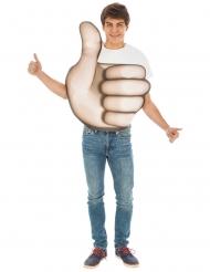 Déguisement Emoji pouce™ adulte