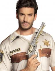 Revolver de sheriff argent