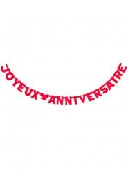 Guirlande Joyeux Anniversaire rouge 280 cm