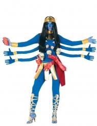 Déguisement déesse indou bleu 6 bras femme