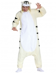 Déguisement combinaison tigre blanc adulte