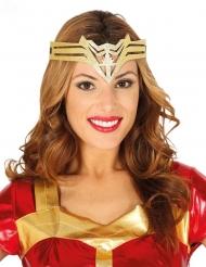 Serre-tête super héroïne doré femme