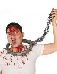 Collier torture avec cadenas adulte 80 cm