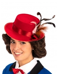 Chapeau rouge nurse anglaise adulte