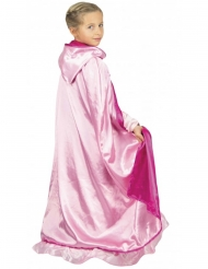 Cape princesse reversible rose luxe enfant