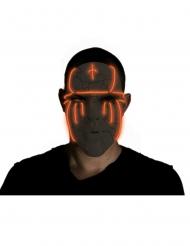 Masque led noir adulte