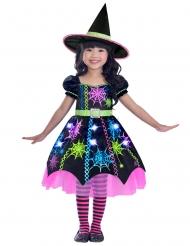 Déguisement sorcière multicolore araignée fille