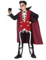 Déguisement vampire squelette garçon